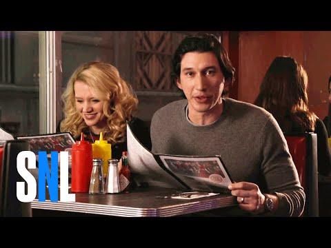 SNL Host Adam Driver & Kate McKinnon Grab a Bite at The Diner