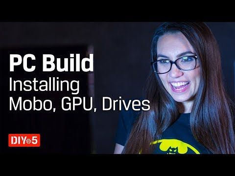 PC Build – Installing IO plate, motherboard, GPU, cables, SSD – DIY in 5 PC Build Part 6