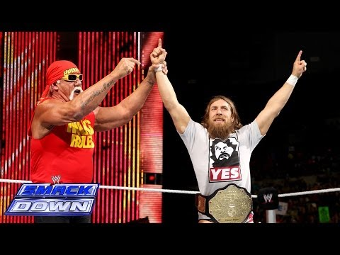 Daniel Bryan engages in a Hulkamania pose-fest with Hulk Hogan: SmackDown, April 11, 2014