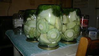 Консервированные патиссоны на зиму (canned squash)