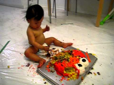 Elmo birthday cake 1 year old birthday cake smash YouTube