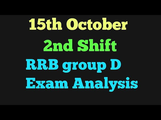 15th October 2nd Shift RRB group d exam analysis|15th October analysis|RRB group d