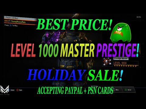 SELLING BLACK OPS 3 LEVEL 1000 MASTER PRESTIGE ACCOUNTS (SALE) - BO3 MASTER PRESTIGE
