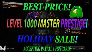 BO3/PS4 BLACK OPS 3 PRESTIGE MASTER GLITCH UNPATCHED