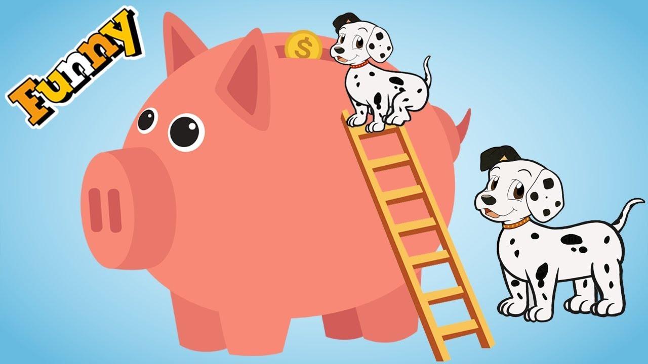 Funny dogs cartoon for children 2018 - Dog's piggy bank