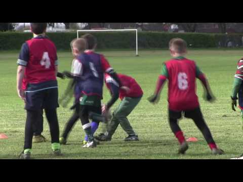 Primary PE Lesson plan ideas for teachers.  Tag Rugby - Down Ball