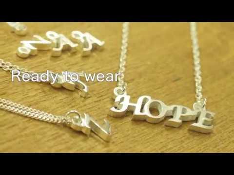 Art Clay Exclusive Alphabet Mold (Word Charm)