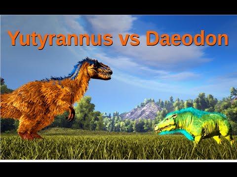 Yutyrannus vs Daeodon: Roar-Ability VS Healing-Ability || ARK: Survival Evolved || Cantex