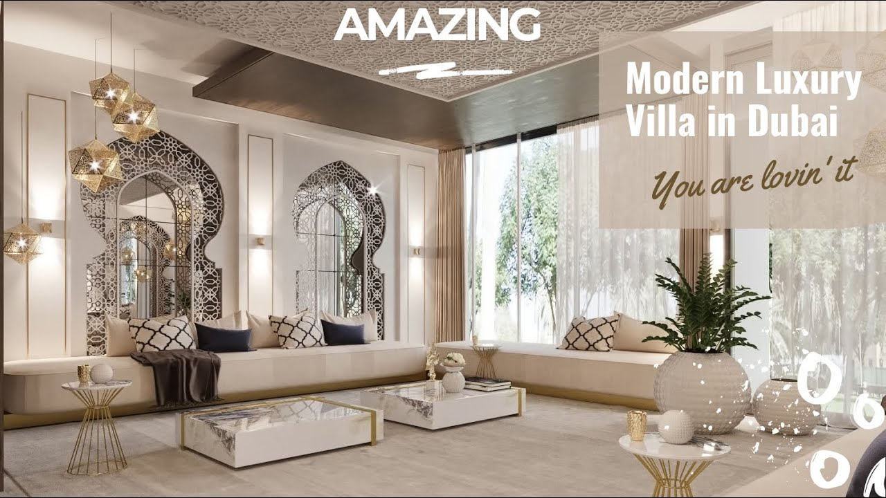 Luxury Modern Arabic Villa Interior Design With Beautiful White Islamic Style Home Decorations Youtube