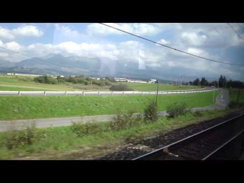 A train ride in Slovakia: Liptovsky Mikulas - Poprad-Tatry, in passenger view