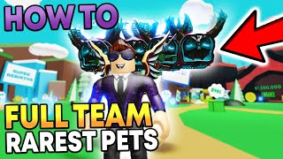 The Secret to Get Full Team of Rarest Pets FAST in Roblox Magnet Simulator
