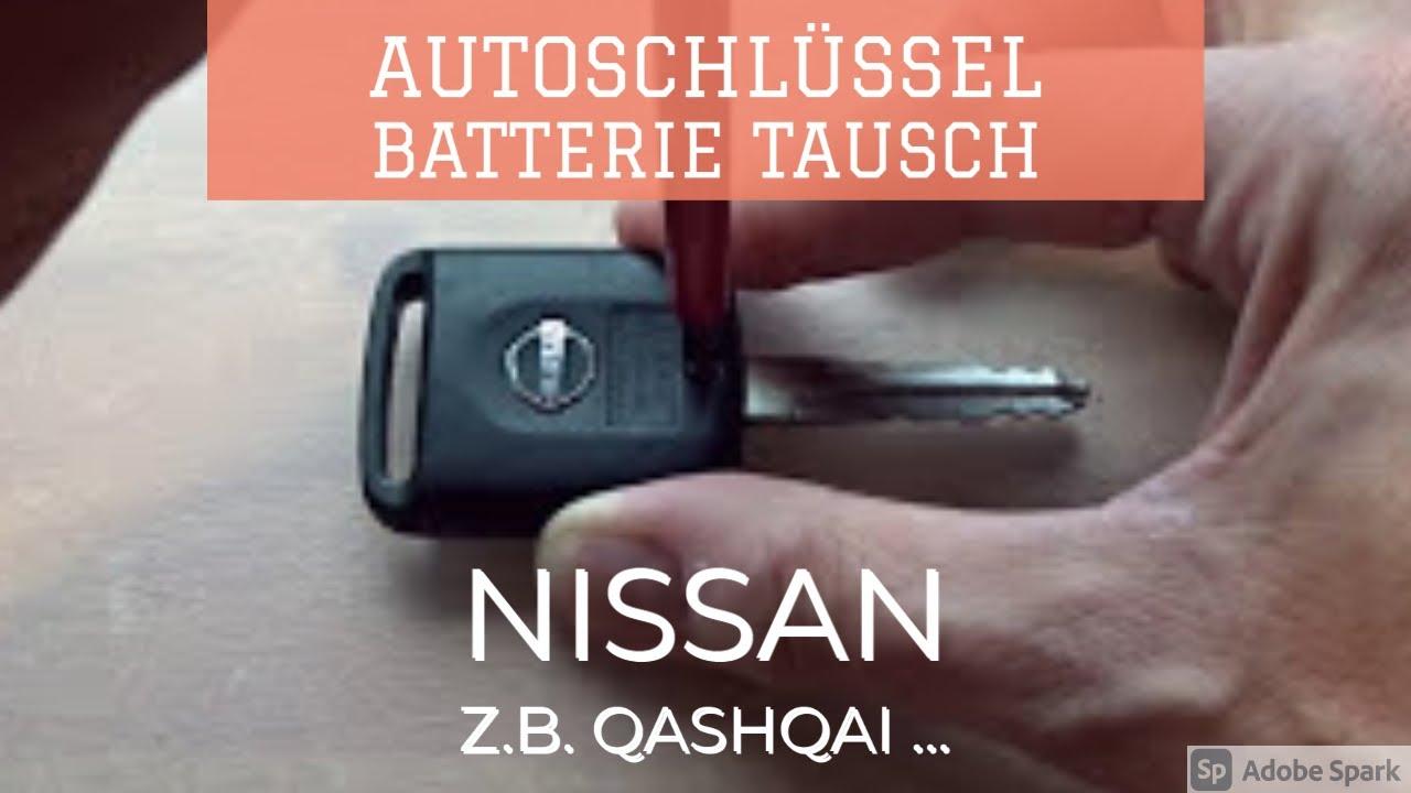 Nissan Schl 252 Ssel Batterie Tauschen Funkschl 252 Ssel Youtube