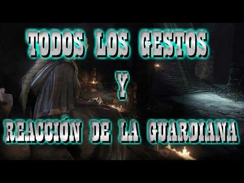 DARK SOULS 3 GESTOS Y REACCIONES DE LA GUARDIANA