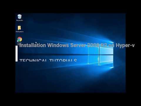 Installation Windows Server 2008 R2 On Hyper-v PART-02