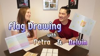 Flag Drawing with Petra & Nelvin