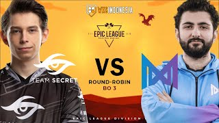 [Dota 2 Live] Secret vs Nigma | EPIC LEAGUE Groupstage | Yudijustincase