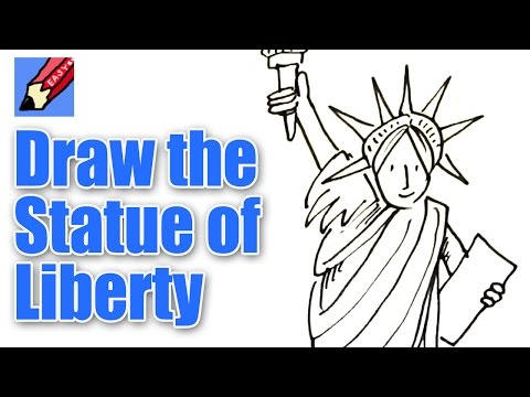 How to Draw the Statue of Liberty Real Easy