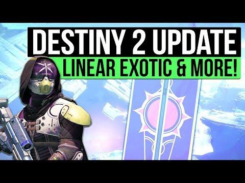 DESTINY 2 NEWS | New Titan Character Revealed, Linear Exotic Fusion, Cabal Gear Set & New Vex Vault!