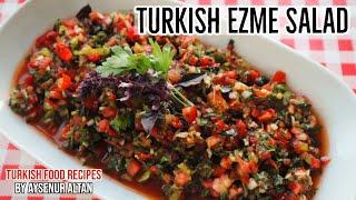 How To Make Turkish Ezme Salad (Vegan Food)