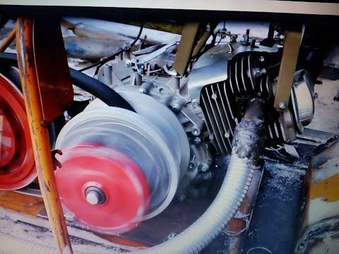 Регулировка двигателя Лифан 17 л с со станиной и рамой и зазора между дисками коробки и вариатора,