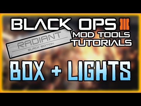 BLACK OPS 3 MOD TOOLS - TUTORIAL 3 - VOLUMETRIC LIGHTS & MYSTERY BOX  BASIC TUTORIALS FOR BEGINNERS