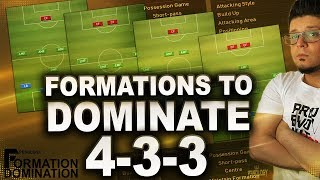PES 2019 Formations to dominate 4-3-3 | Formation Domination 4-2-2-2, 3-5-2, 4-3-2-1 & 4-1-4-1. (ES)