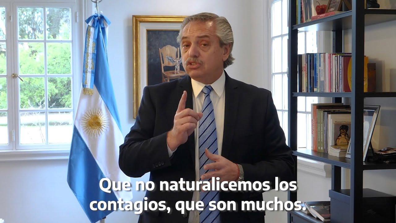 Fernández anunció que sigue el aislamiento hasta el 20 de septiembre y habrá reuniones al aire libre