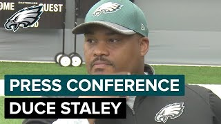 Coach Duce Staley Talks About Jay Ajayi's Progress & How to Keep RBs Happy | Eagles Press Conference
