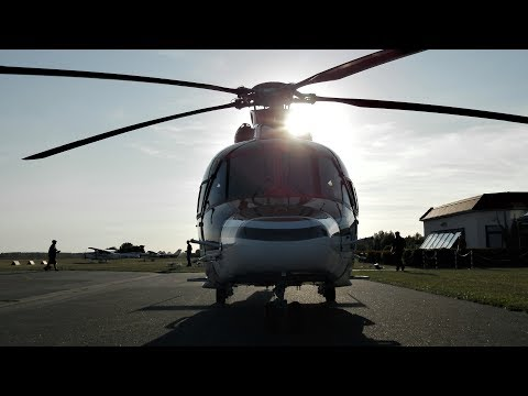 [HD] Offshore Helicopter EC 155, PH-SHO Heli Holland arrival at EDCG Rügen