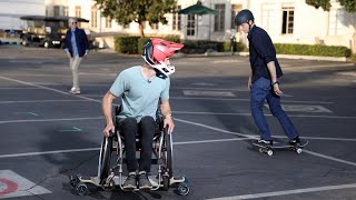 Tony Hawk Surprises Wheelchair Skateboarder