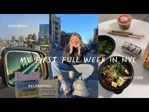 week in my life in NYC: moving in, FB marketplace finds, trader joes & friends! | the move to nyc