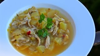 Tasty Chicken Leek Soup #TastyTuesdays  CaribbeanPot.com