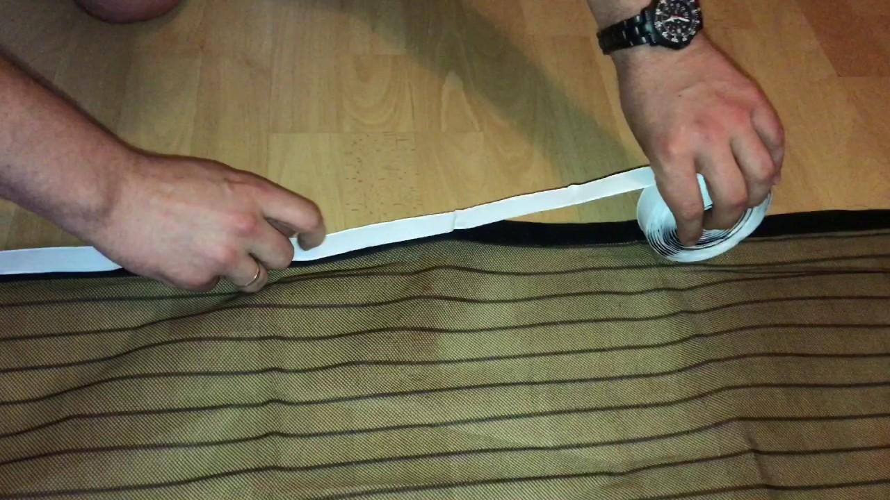 Tür montieren  Magnet Fliegengitter Tür anbringen magnetisches Mosquito Netz an ...