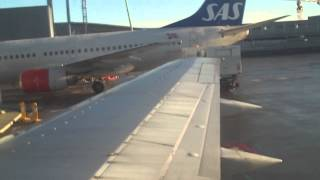 Norwegian Air Shuttle DY362 B737-300 Oslo-Evenes Security, Taxi, Takeoff and Landing