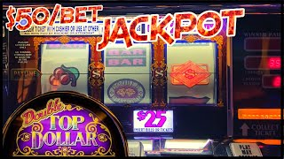 DOUBLE TOP DOLLAR JACKPOT HANDPAY HIGH LIMIT $50 MAX BET Bonus Round ⚡️Lightning Link Happy Lantern