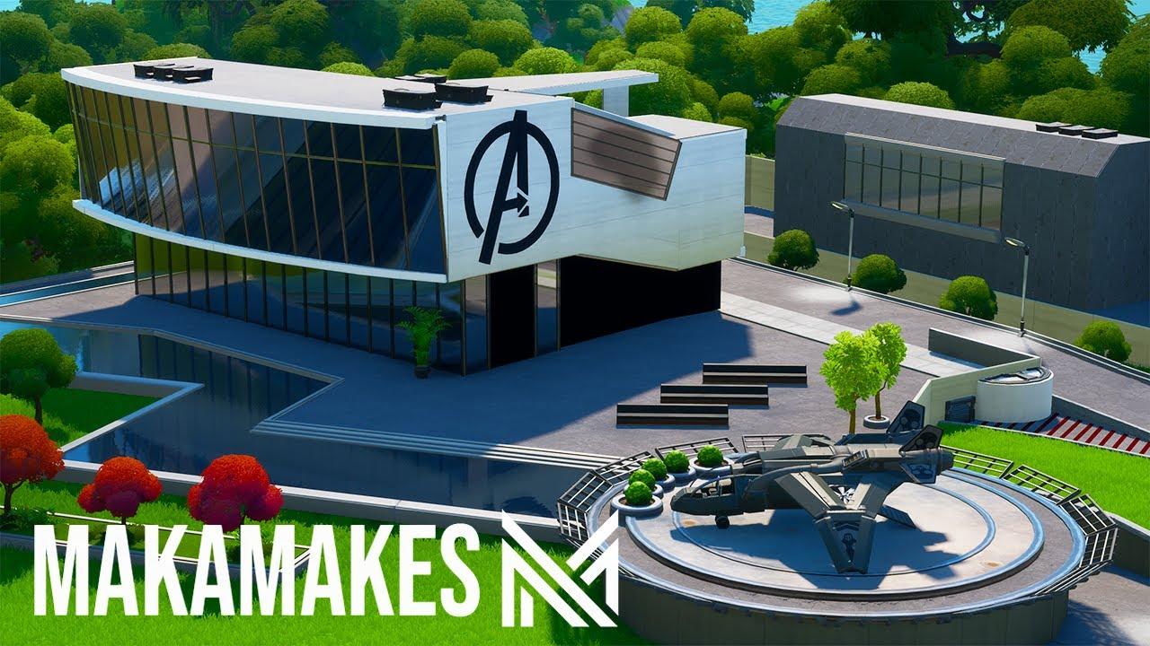 4 Hour Build Challenge - Avengers Base | Fortnite Creative