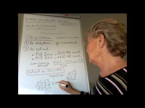 Euros Courants Euros Constants Pib En Volume Youtube