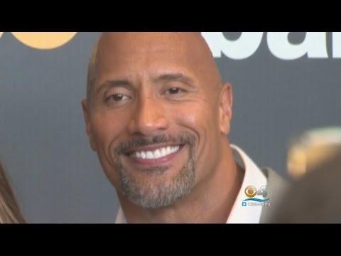 Dwayne 'The Rock' Johnson Back Home For 'Ballers' Season 2 Red Carpet Premiere