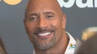 Dwayne 'The Rock' Johnson Back Home For 'Ballers' Season 2 Red Carpet Premiere
