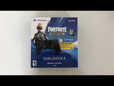 Fortnite Neo Versa PS4 Exclusive Controller Unboxing