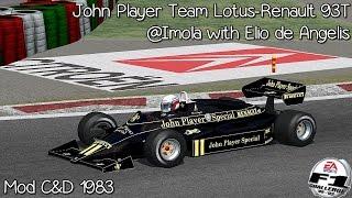 [F1C] John Player Team Lotus-Renault 93T @ Imola with Elio de Angelis (Mod C&D 1983) [HD]