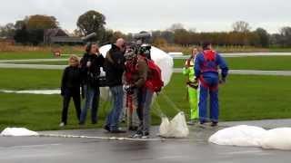 Skydive for Dutch TV progamm ''The biggest loser'' SBS6 at Teuge Airport