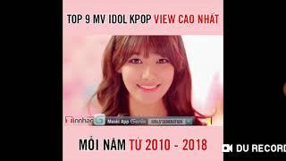 Top các mv K-pop nhiều view nhất youtube qua các năm
