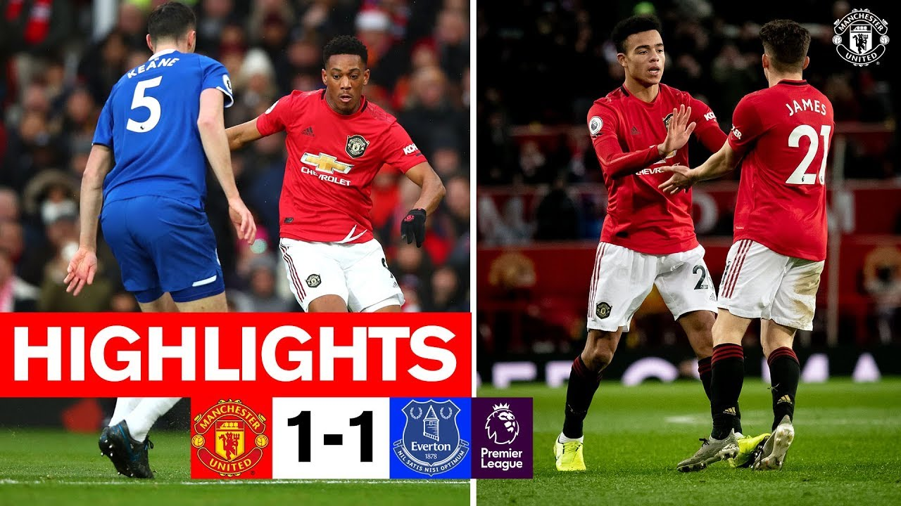 Highlights Manchester United 1 1 Everton Premier League Youtube
