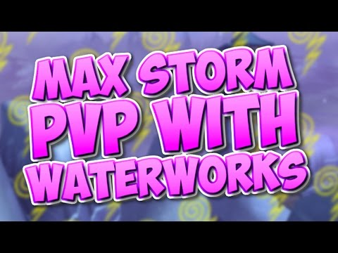 Wizard101: MAX LEVEL STORM PVP WITH WATERWORKS GEAR!!