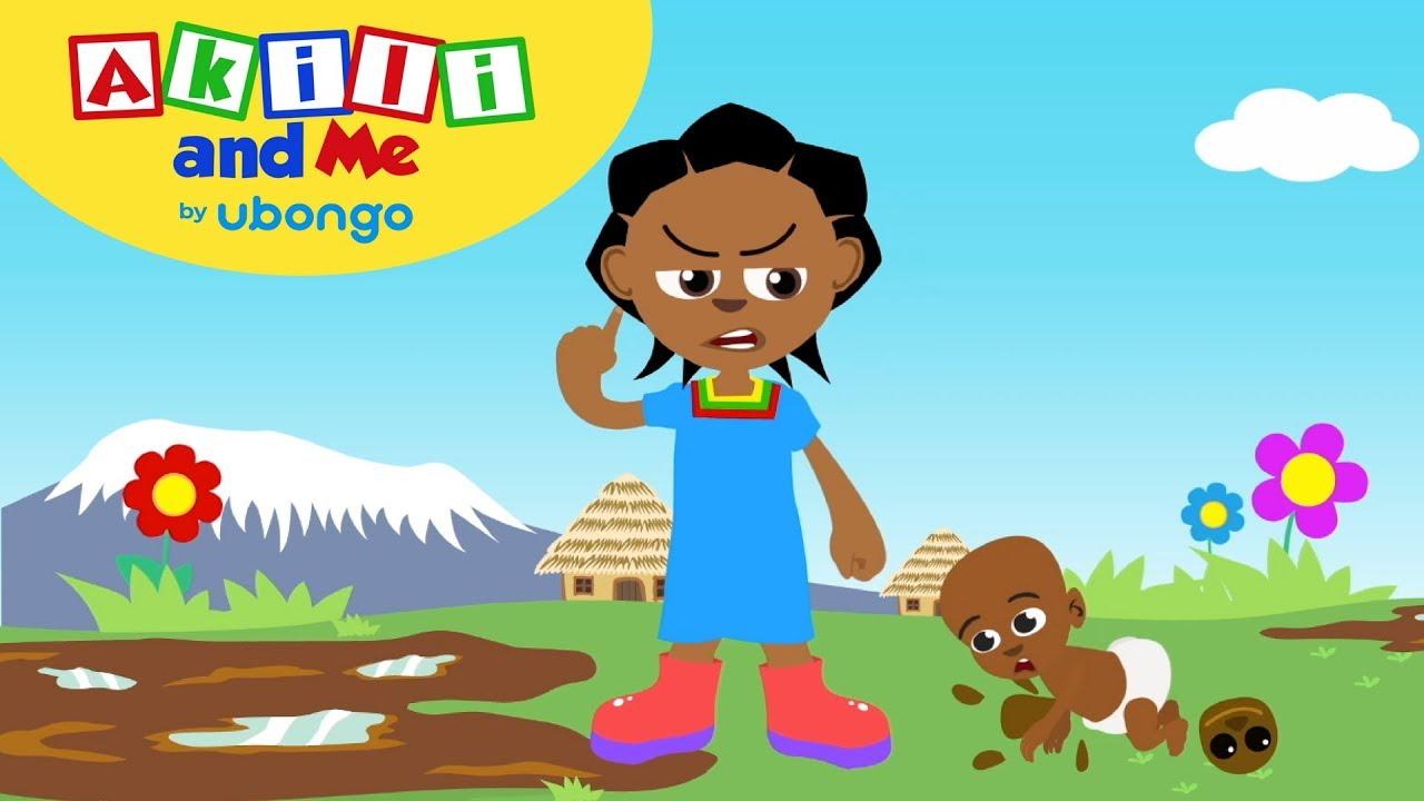 Angry Akili!   Social Emotional Skills with Akili and Me   Cartoons for Preschoolers