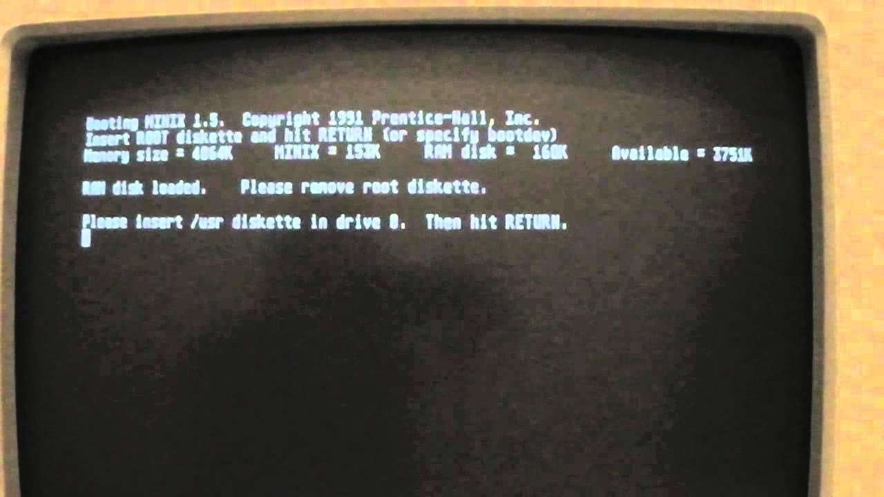 Minix 1 5 on Atari ST