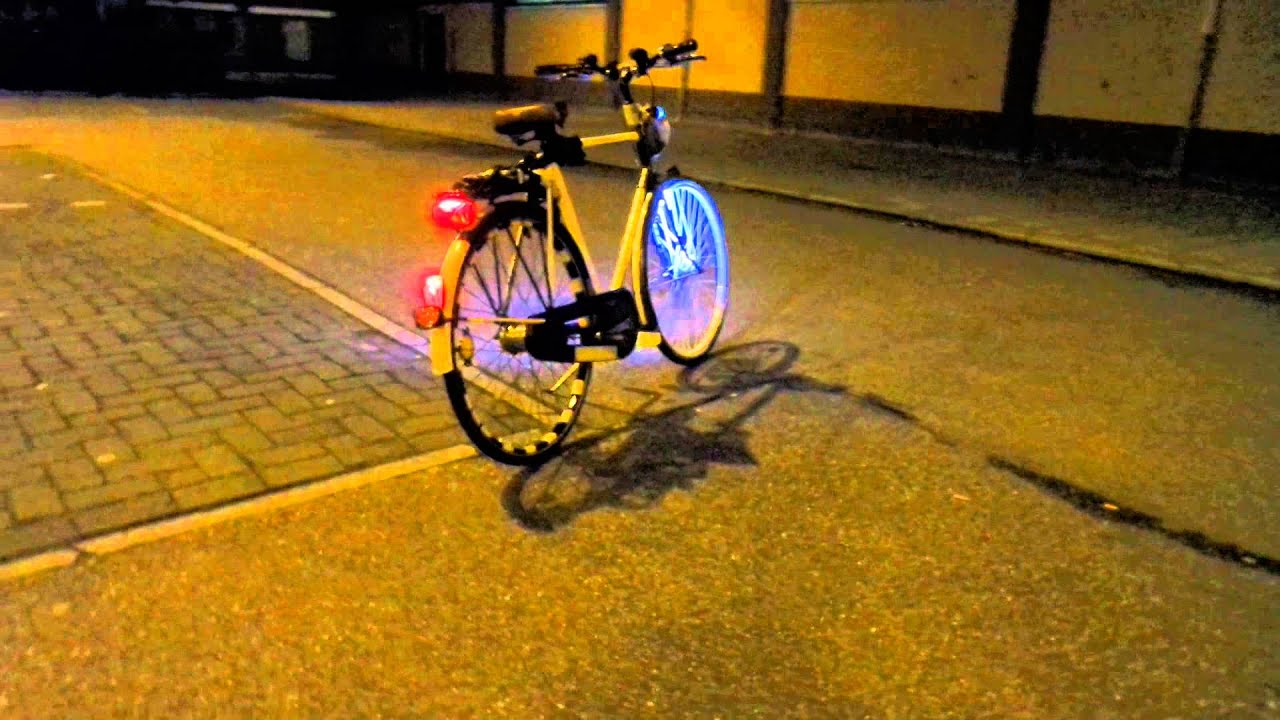 ledverlichting fiets voorwiel zaandam