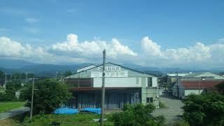 魚津~東滑川駅、あいの風とやま鉄道(旧北陸本線)、進行方向左側車窓から