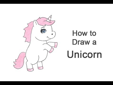 how to draw a unicorn cartoon youtube